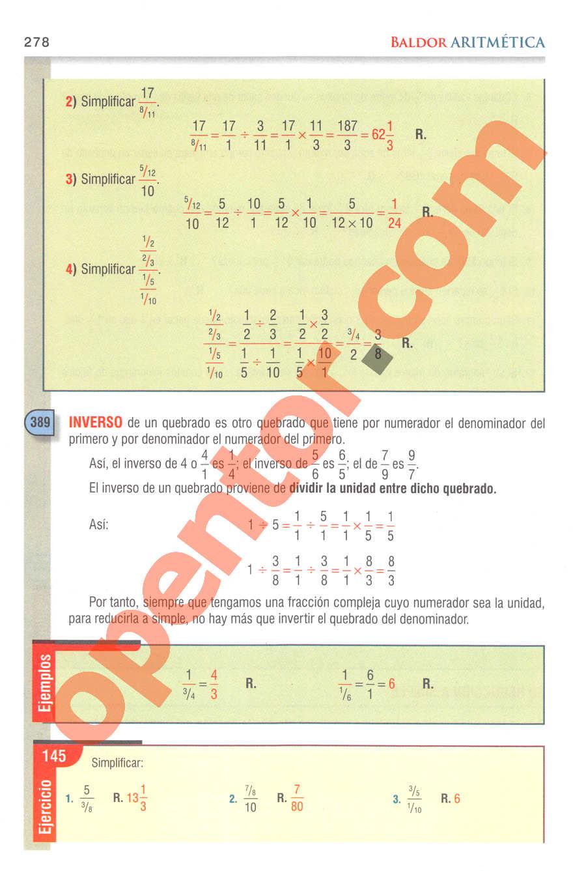 Aritmética de Baldor - Página 278