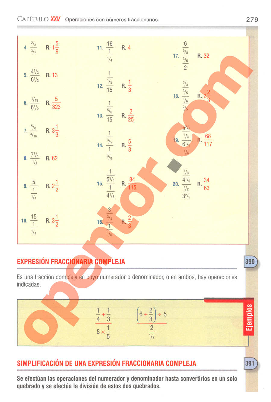 Aritmética de Baldor - Página 279