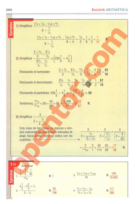Aritmética de Baldor - Página 280