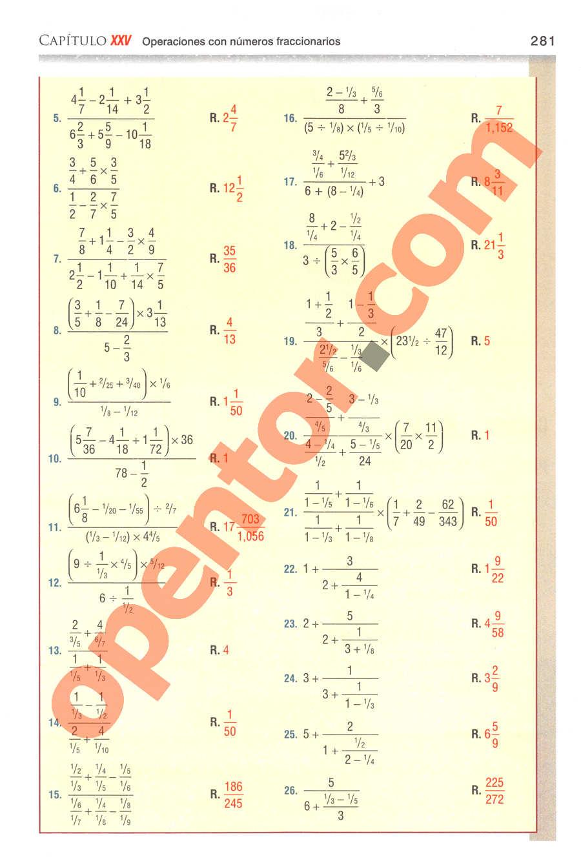 Aritmética de Baldor - Página 281