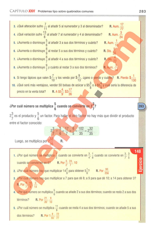 Aritmética de Baldor - Página 283