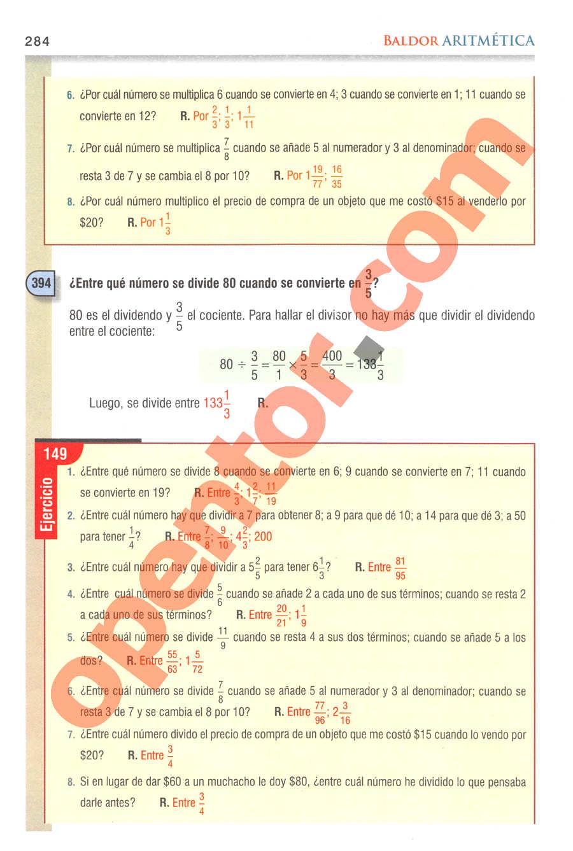Aritmética de Baldor - Página 284