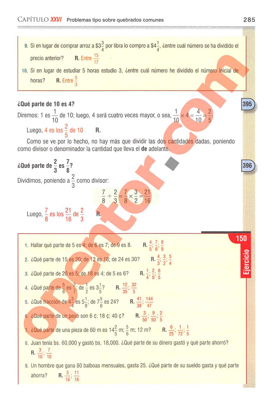 Aritmética de Baldor - Página 285