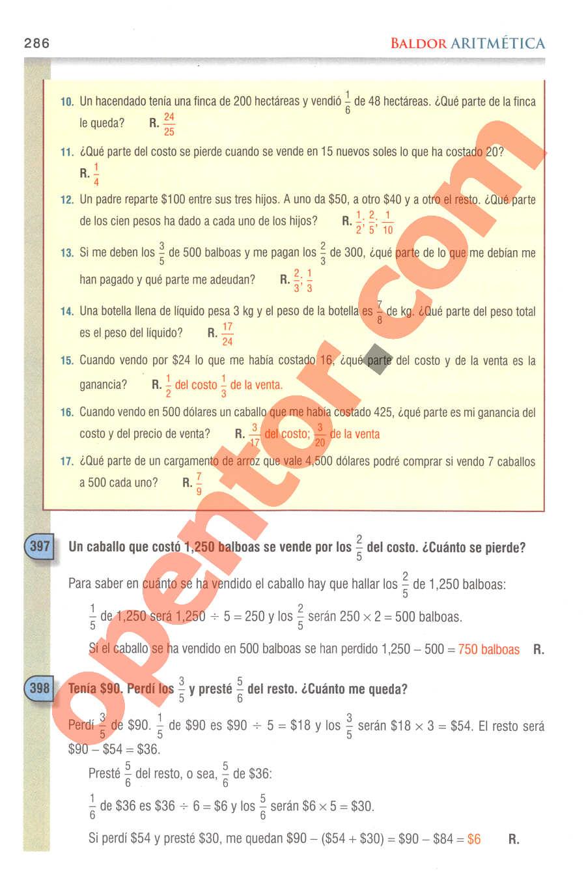 Aritmética de Baldor - Página 286