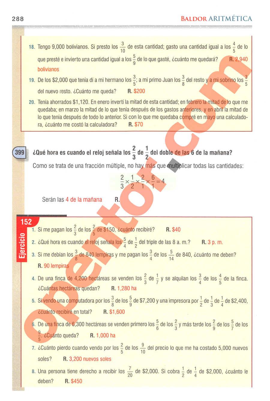 Aritmética de Baldor - Página 288
