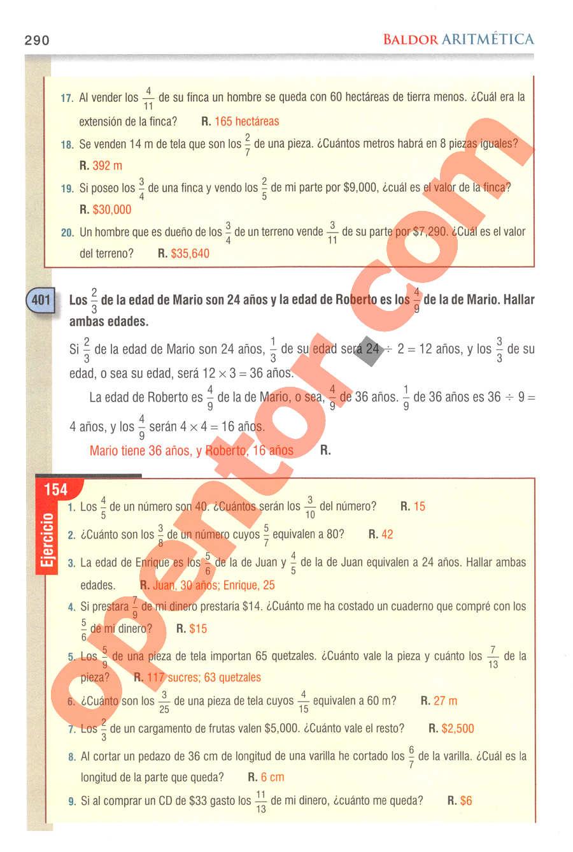 Aritmética de Baldor - Página 290