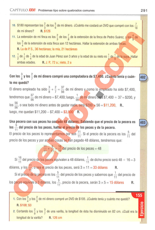 Aritmética de Baldor - Página 291