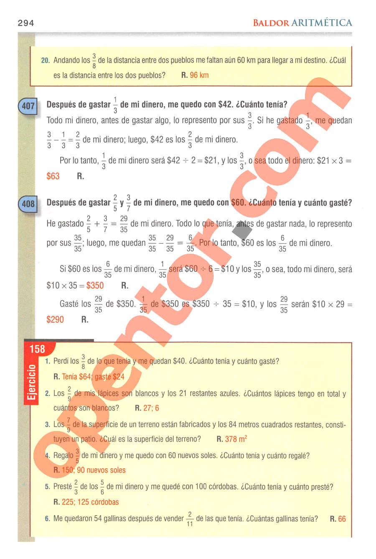 Aritmética de Baldor - Página 294