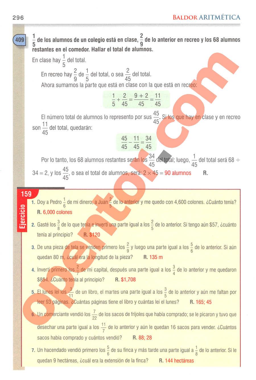 Aritmética de Baldor - Página 296