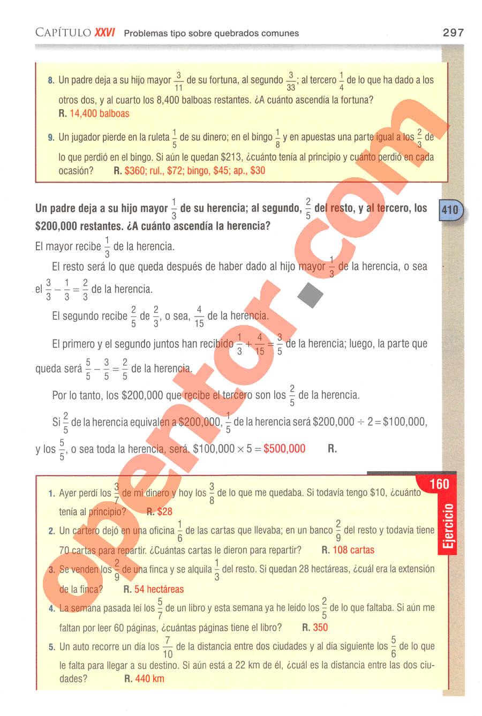 Aritmética de Baldor - Página 297