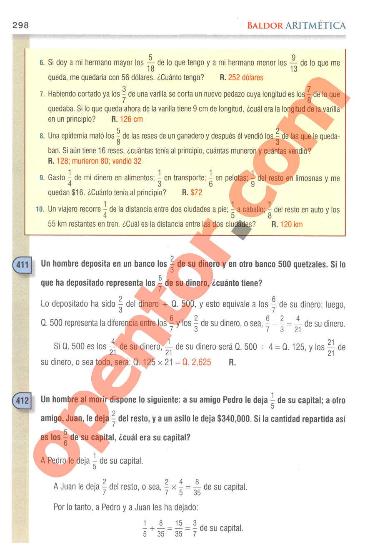 Aritmética de Baldor - Página 298