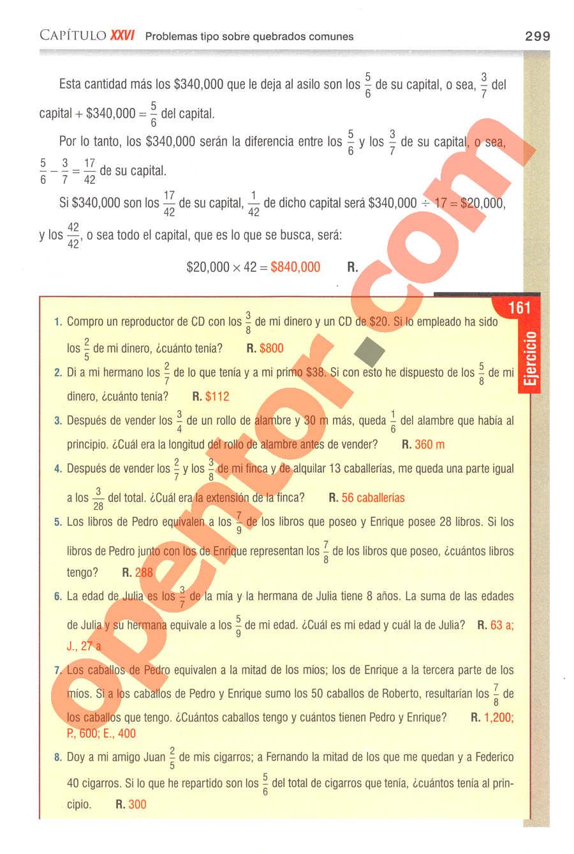 Aritmética de Baldor - Página 299