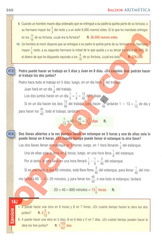 Aritmética de Baldor - Página 300