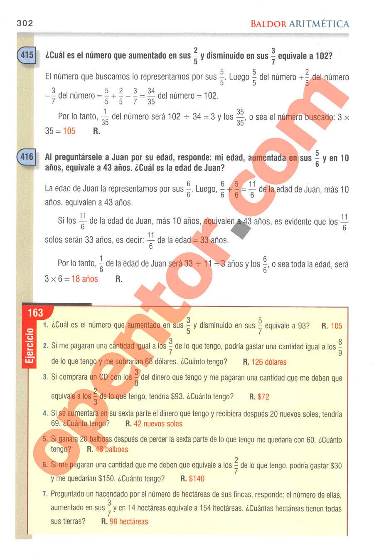 Aritmética de Baldor - Página 302