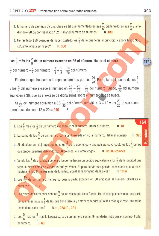 Aritmética de Baldor - Página 303