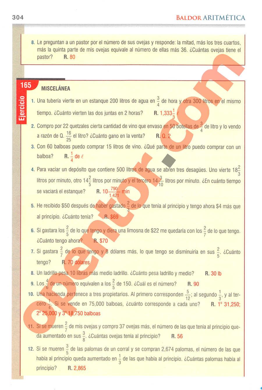 Aritmética de Baldor - Página 304