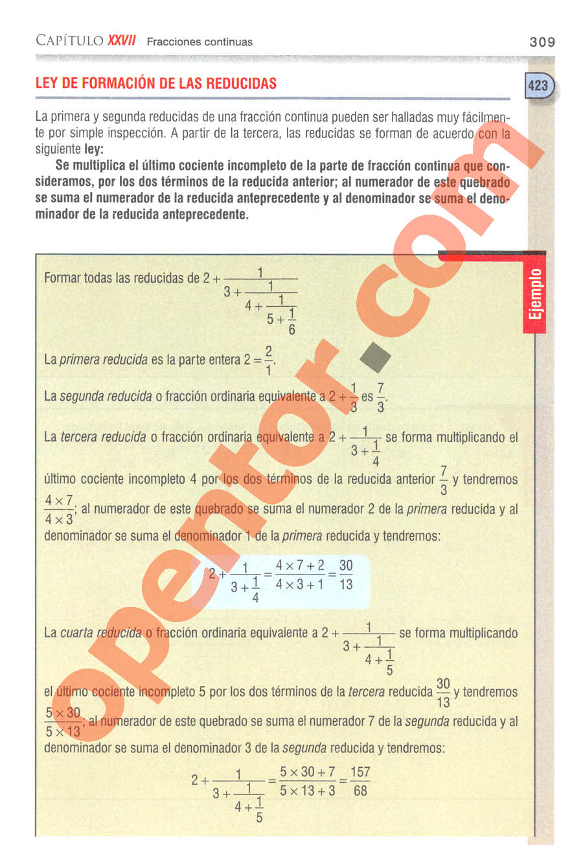 Aritmética de Baldor - Página 309