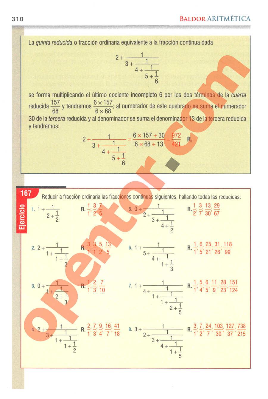 Aritmética de Baldor - Página 310