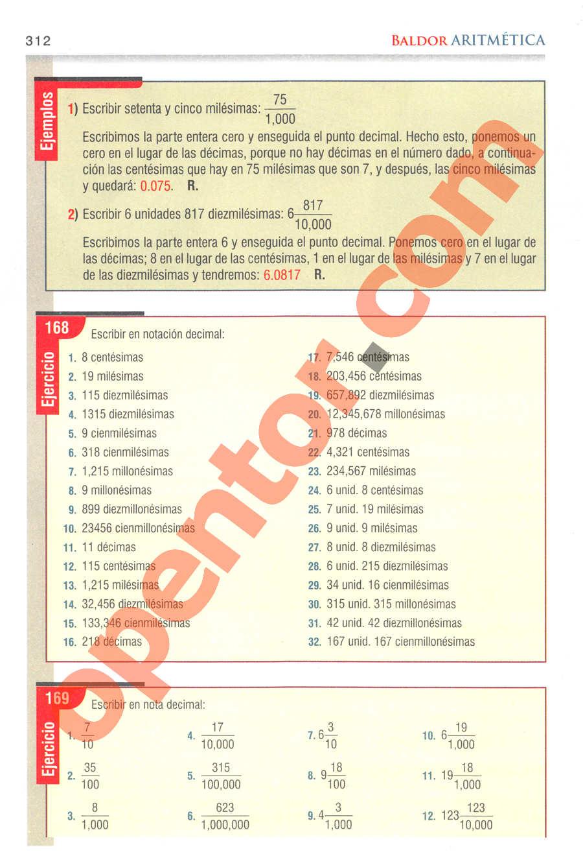 Aritmética de Baldor - Página 312