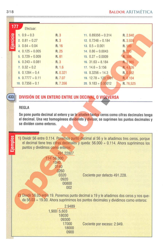 Aritmética de Baldor - Página 318
