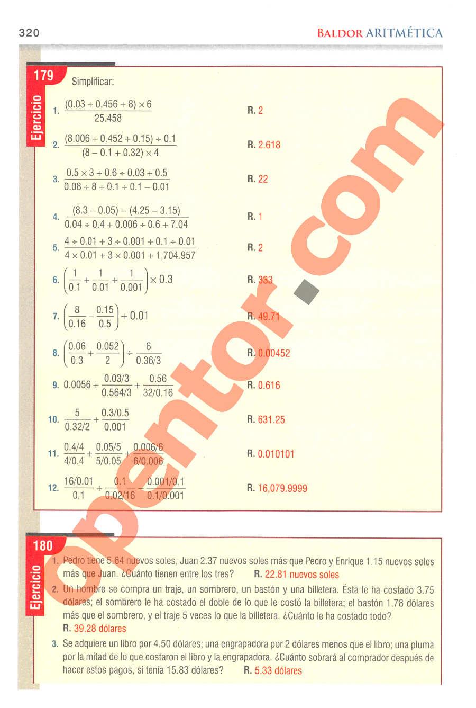 Aritmética de Baldor - Página 320