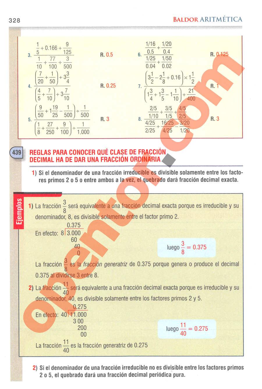 Aritmética de Baldor - Página 328