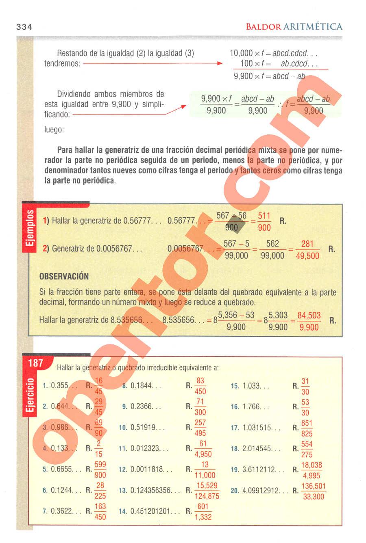 Aritmética de Baldor - Página 334