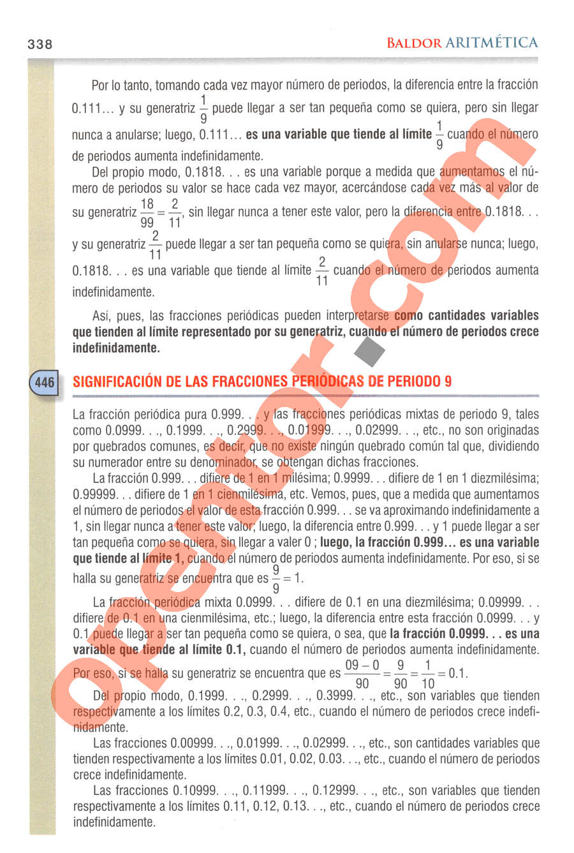 Aritmética de Baldor - Página 338