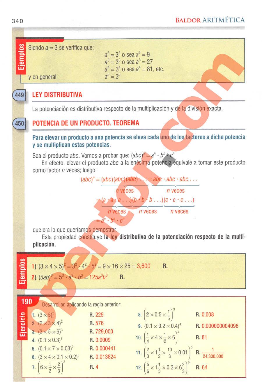 Aritmética de Baldor - Página 340