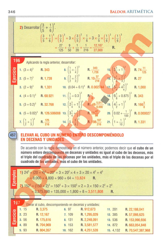 Aritmética de Baldor - Página 346