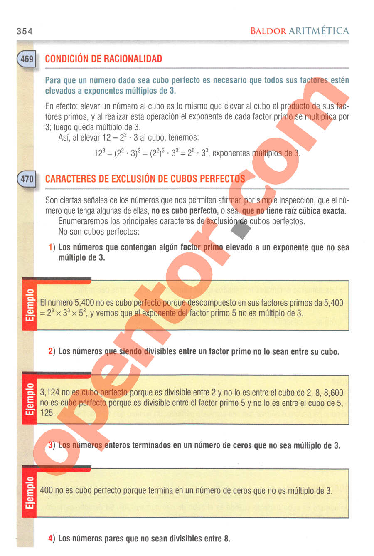 Aritmética de Baldor - Página 354