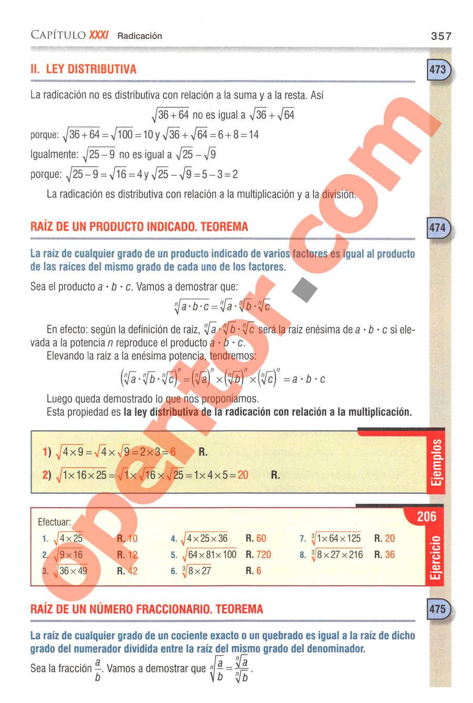 Aritmética de Baldor - Página 357