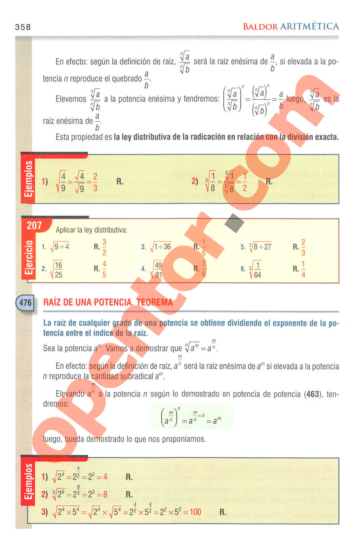 Aritmética de Baldor - Página 358