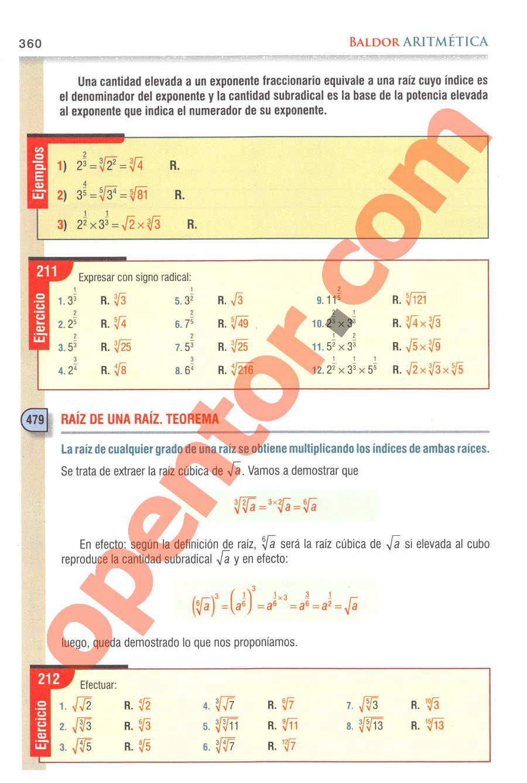 Aritmética de Baldor - Página 360