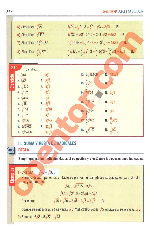 Aritmética de Baldor - Página 364