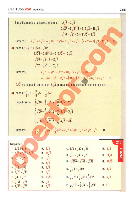 Aritmética de Baldor - Página 365