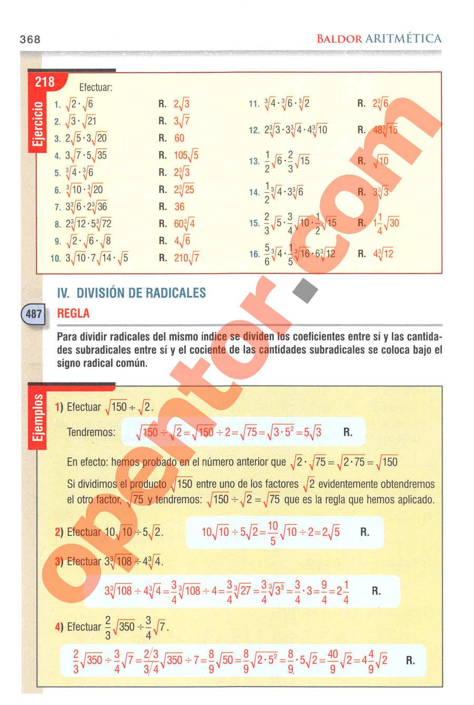 Aritmética de Baldor - Página 368