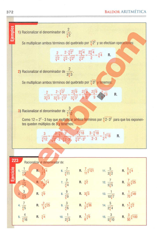 Aritmética de Baldor - Página 372