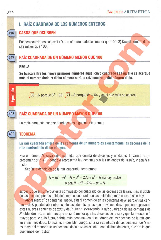 Aritmética de Baldor - Página 374