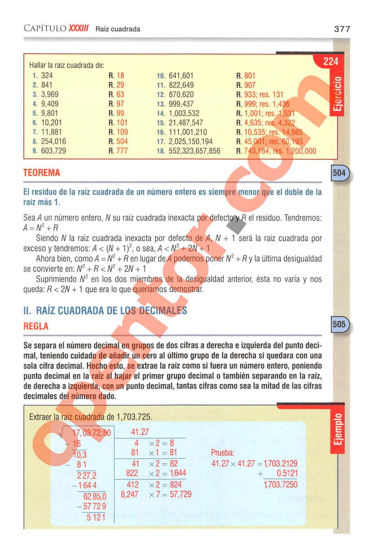 Aritmética de Baldor - Página 377