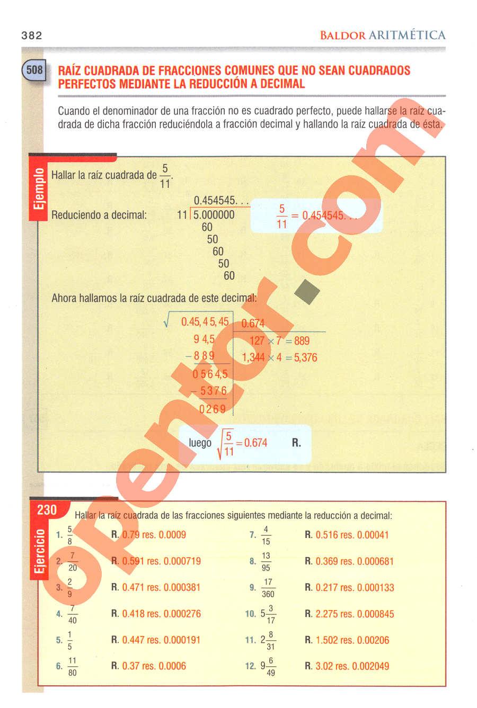 Aritmética de Baldor - Página 382
