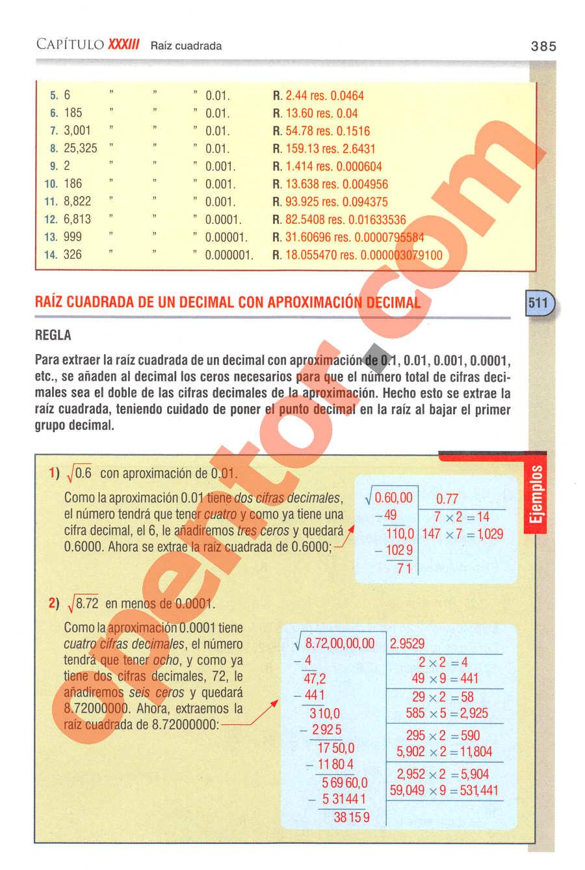 Aritmética de Baldor - Página 385