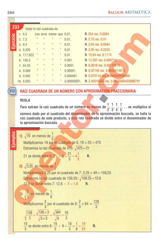Aritmética de Baldor - Página 386