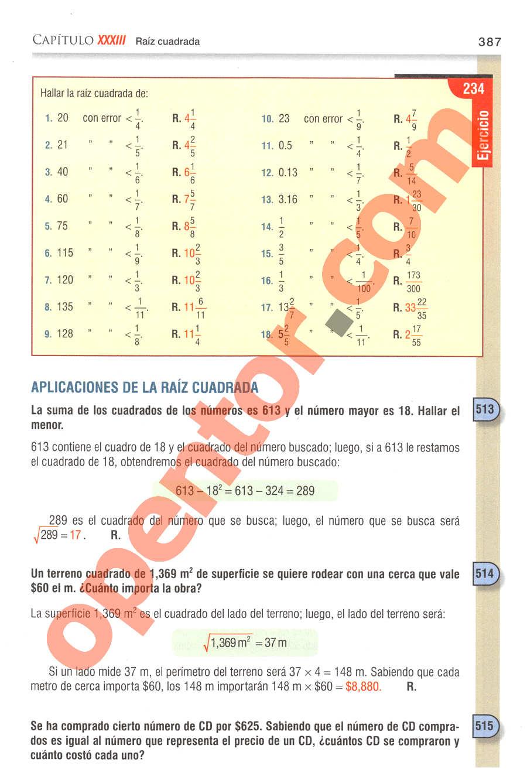 Aritmética de Baldor - Página 387