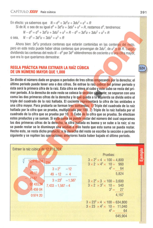 Aritmética de Baldor - Página 391