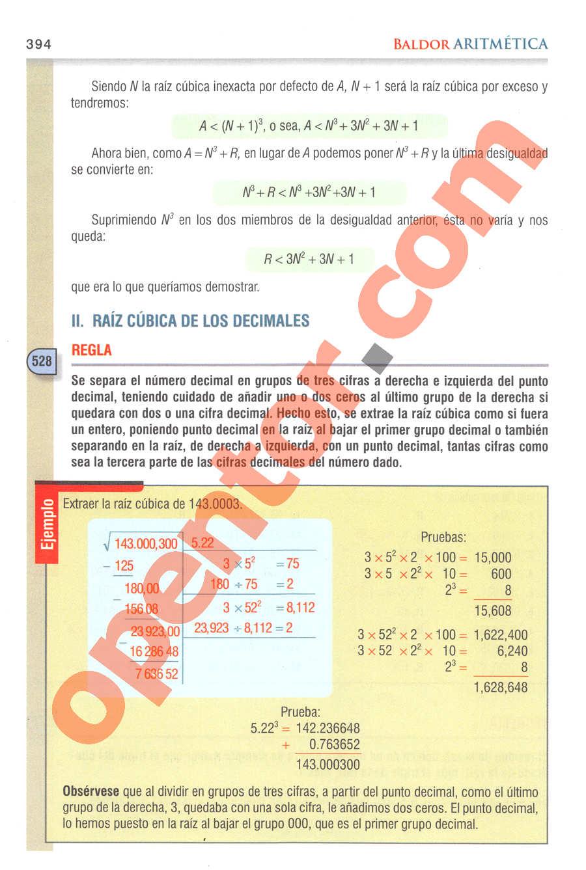 Aritmética de Baldor - Página 394