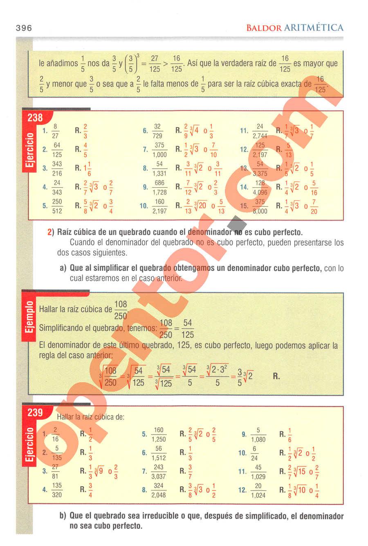 Aritmética de Baldor - Página 396
