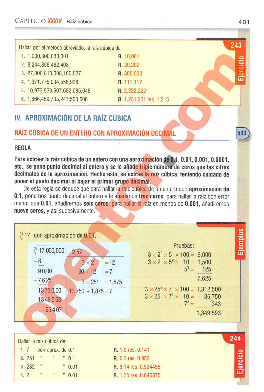Aritmética de Baldor - Página 401