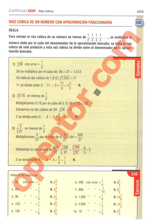 Aritmética de Baldor - Página 403
