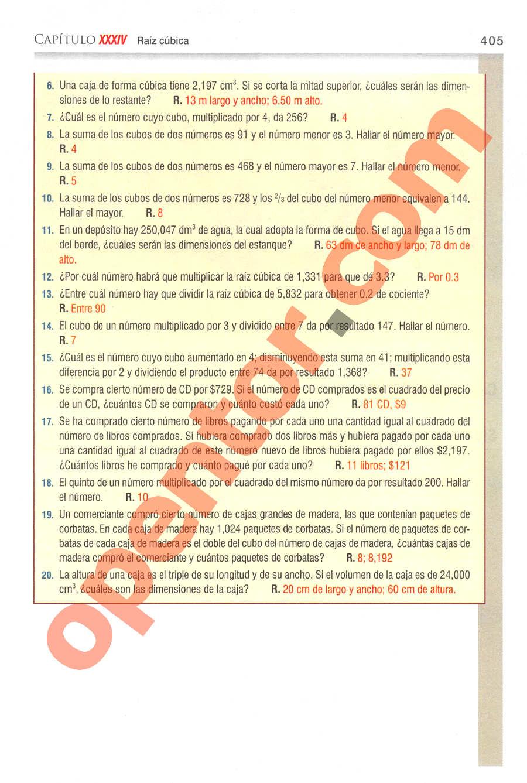 Aritmética de Baldor - Página 405